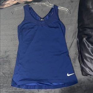 mike blue workout tank top